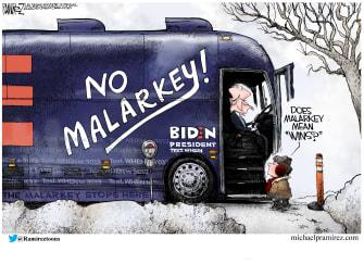 Political Cartoon U.S. Joe Biden Democrats primaries voters winning