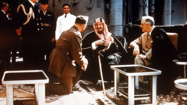 Franklin Roosevelt and King Abdul Aziz.