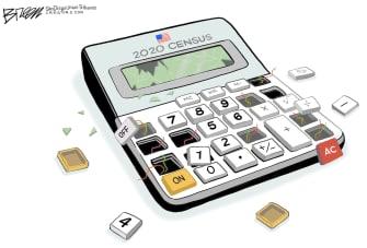 Editorial Cartoon U.S. broken 2020 census