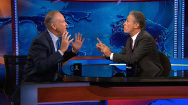 Jon Stewart and Bill O'Reilly nearly come to blows debating 'white privilege'