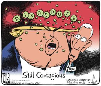 Political Cartoon U.S. Trump COVID Fauci