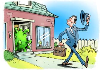 Editorial Cartoon World coronavirus return to work