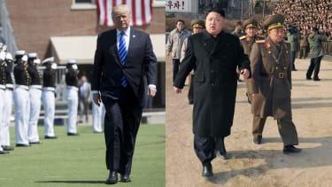 President Trump and North Korean leader Kim Jong Un.
