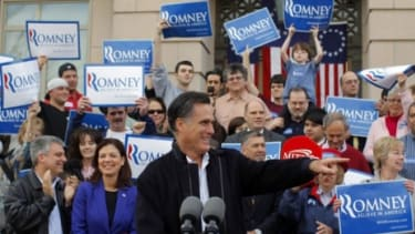After campaigning in New Hampshire over the weekend, Mitt Romney will make a play for Iowa and its critical conservative base.