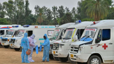 Ambulances and paramedics in India.