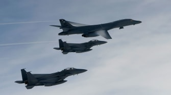 US Air Force nuclear bombers.