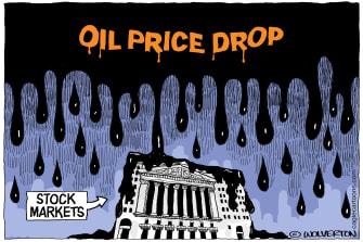 Political Cartoon U.S. Trump White House Coronavirus stock market oil petroleum prices