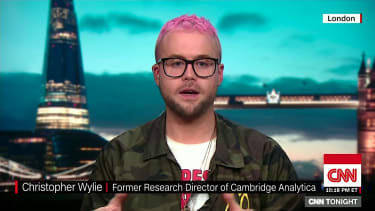 Cambridge Analytica whistleblower talks to CNN