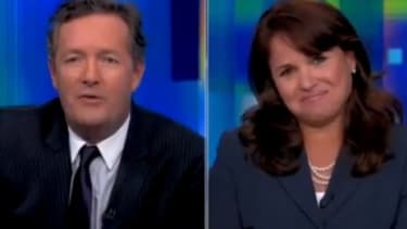 Tea Partier Christine O'Donnell walked out of her interview with Piers Morgan after being pressed for her opinions on masturbation and abortion.