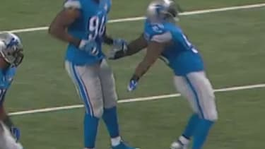 Detroit Lions player injures self while taunting opponent