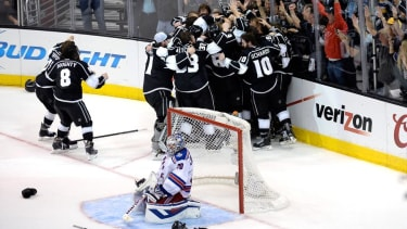 Here's the impressive double-overtime goal that won the Kings the Stanley Cup