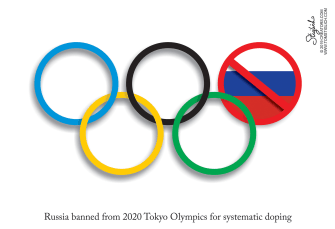 Political Cartoon U.S. Russia Olympics Ban Systematic Doping