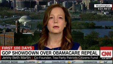 Tea Party leader Jenny Beth Martin skewers health care bill on CNN.