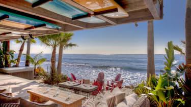 Beach front property in Malibu, California.