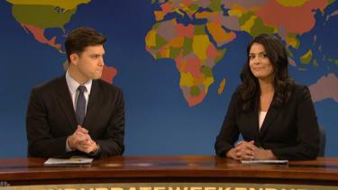 Watch Colin Jost debut as SNL Weekend Update co-anchor