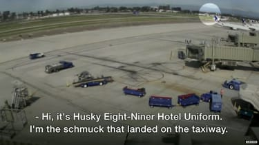 Harrison Ford lands on the wrong runway