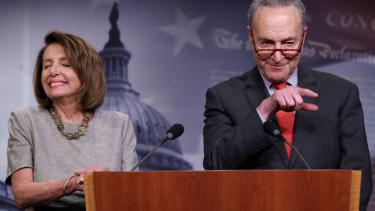 Nancy Pelosi and Chuck Schumer meet the press
