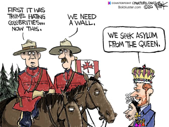Editorial Cartoon World Trump Canada Meghan Markle Prince Harry immigration asylum