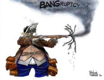 Editorial Cartoon U.S. NRA bankruptcy
