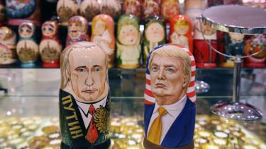 A souvenir shop in Moscow.