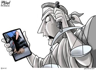 Editorial Cartoon U.S. George Floyd Minneapolis justice