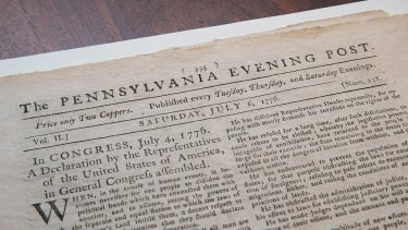 A newspaper announcing the Declaration of Independence