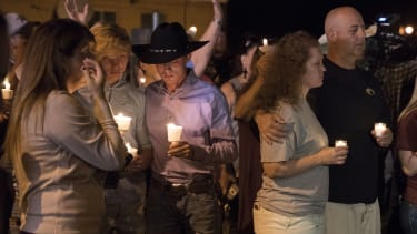 A candlelight vigil in Sutherland Springs