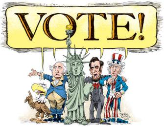 Editorial Cartoon U.S. 2020 vote
