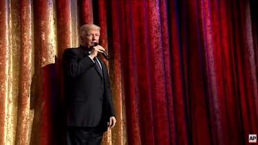 Donald Trump addresses diplomats, donors before inauguration