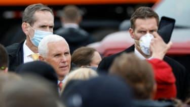 Pence at a rally