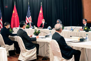 U.S. and Chinese diplomats face off in Alaska