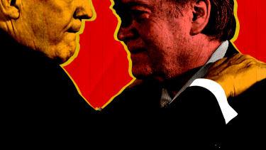 President Trump and Steve Bannon.
