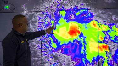 Hurricane Dorian on satellite imagery.