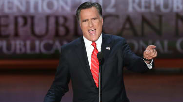Mitt Romney at the Republican National Convention