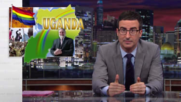 John Oliver celebrates gay pride by lauding the U.S., bashing its export of homophobia