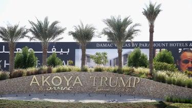The entrance to the Akoya by Damac Trump International Golf Club.