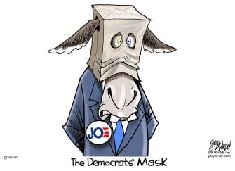 Political Cartoon U.S. Biden democrats 2020