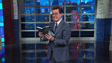 Stephen Colbert reads Bill O'Reilly's 1998 novel, nervously
