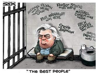 Political Cartoon U.S. Trump Bannon the best people