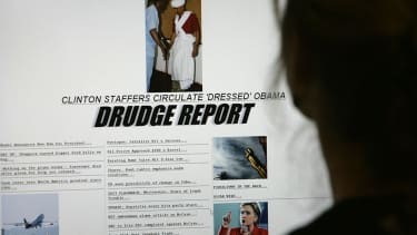 The Drudge Report homepage.