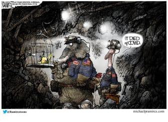 Political Cartoon U.S. COVID GOP