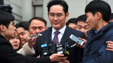 Samsung's Lee Jae-Yong leaves a court hearing