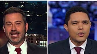 Trevor Noah and Jimmy Kimmel mock Joe Biden