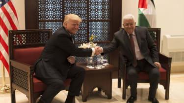 President Trump and PA President Mahmoud Abbas talk peace