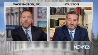 Chuck Todd and Ted Cruz.