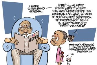 Editorial Cartoon U.S. America racism George Floyd