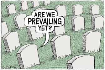 Editorial Cartoon U.S. coronavirus deaths Trump prevail