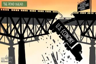 Editorial Cartoon U.S. infrastructure economy