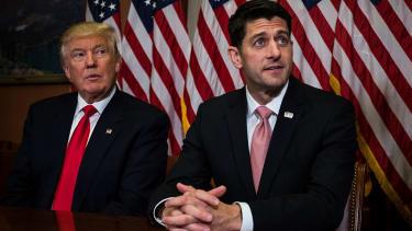 President Trump and Paul Ryan.