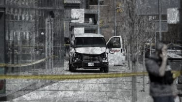 The van used in the Toronto attack.